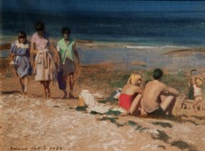 fine_art_normanhepple_bathersonthebeach